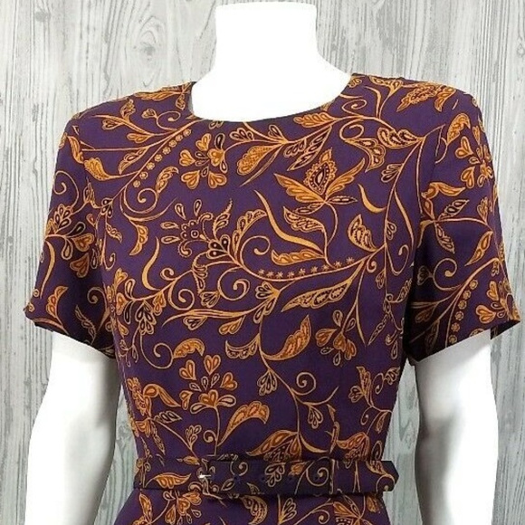 Talbots Dresses & Skirts - Vintage Talbots 100% Pure Silk Purple & Gold Dress